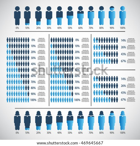 People percentage Infographic design elements . EPS10 vector file.
