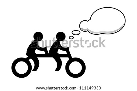 People ride on a Bicycle and say