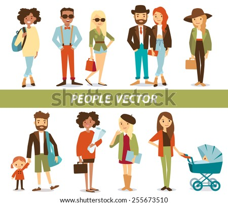 people's characters - stock vector