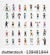 People's Collection ( Set of 35 Quality color character ) - stock vector