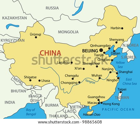China map stock images royalty free images vectors shutterstock peoples republic of china vector map gumiabroncs Choice Image