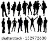 people set - stock vector