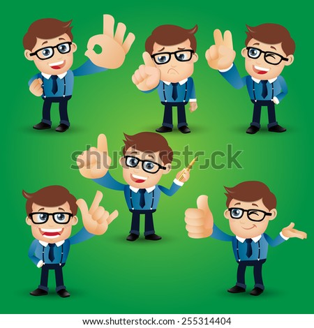 People Set - Business - Businessman conquering the dollar sign - stock vector