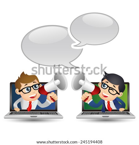 People Set - Business - Businessman. Good news - stock vector