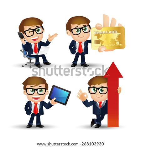 People Set - Business - Financial businessmen - stock vector