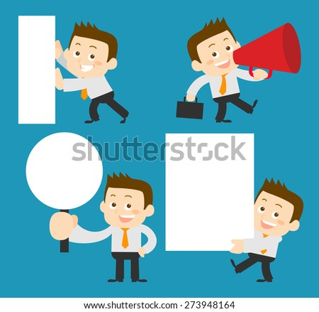 People Set - Business - Memo. Man - Illustration - stock vector