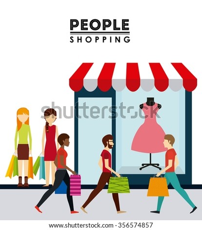 people shopping design, vector illustration eps10 graphic