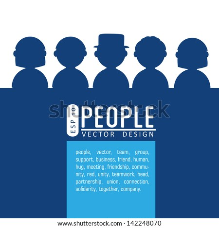 people silhouette over white background vector illustration - stock vector