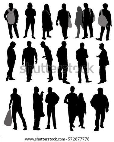 Silhouette People Standing Stock Images, Royalty-Free ...
