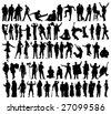 People silhouettes - stock