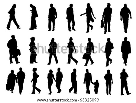 People silhouettes (vector)