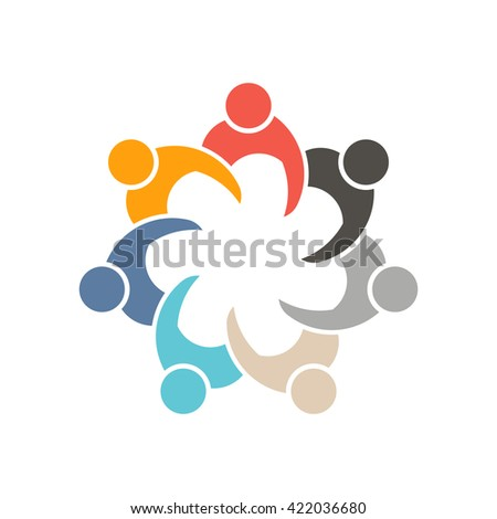 People Socializing in meeting 7 logo. Vector graphic design - stock vector