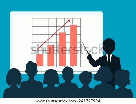 people speaking before an audience - stock vector