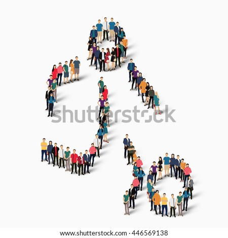 people sports football vector - stock vector