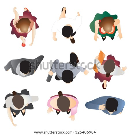 People Top View Stock Images Royalty Free Images
