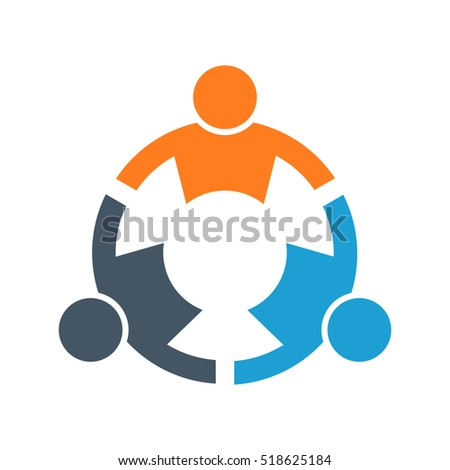 People Stronger Together. Vector Illustration
