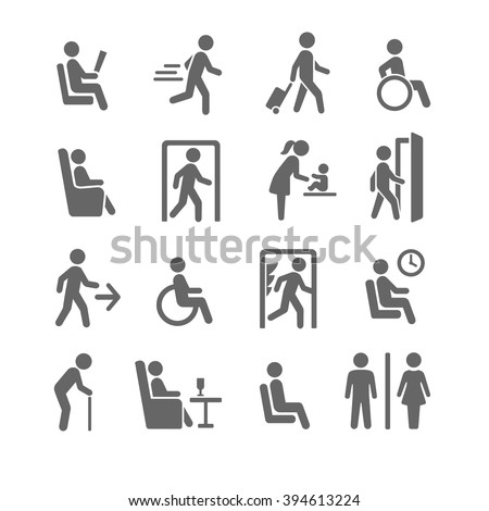 people symbols and signs - stock vector