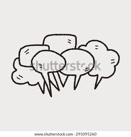 people talk doodle - stock vector