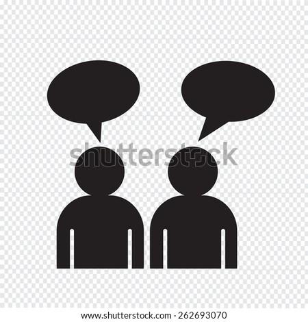 people talk icon - stock vector