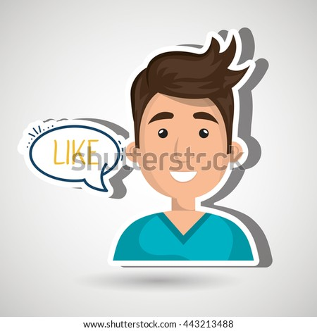 people talking design, vector illustration eps10 graphic  - stock vector