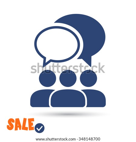 People talking  icon. One of set web icons - stock vector
