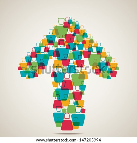 people team make arrow shape stock vector - stock vector