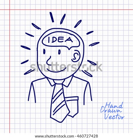 People Think Idea Sketch Illustration. Vector Eps. 10