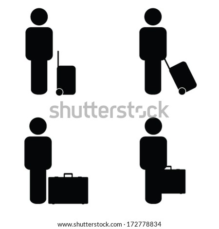 people travel icon vector illustration - stock vector