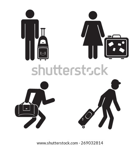People traveling icons illustration vector - stock vector