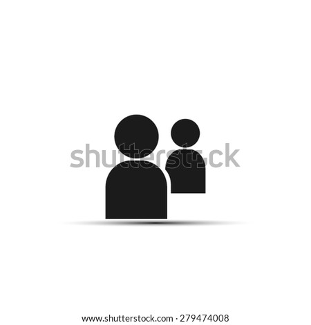people two - stock vector