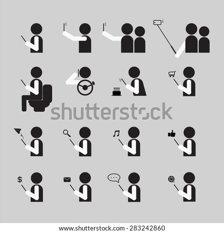 People using Smartphone in lifestyle vector illustration - stock vector