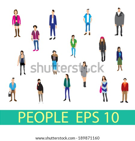people vector  - stock vector