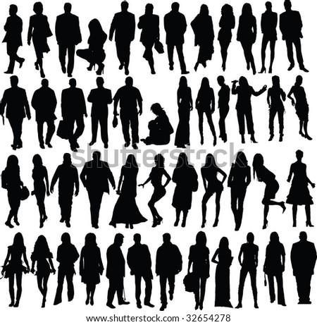 people, vector - stock vector