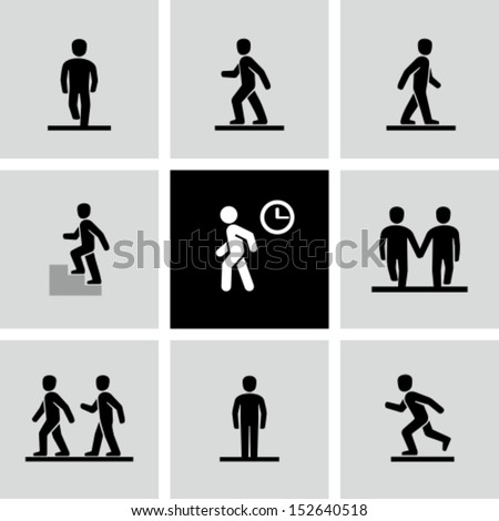 Walking People Logo Walking Stock Images, ...