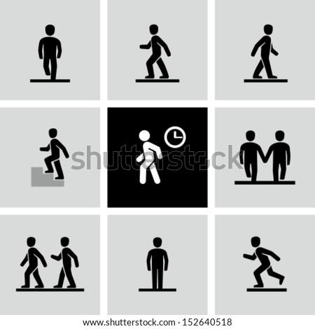 Walking Forward Stick Figure