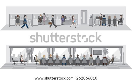 People who work in the office  - stock vector