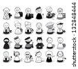 People With Different Occupation - Set - Isolated On White Background - Vector Illustration, Graphic Design Editable For Your Design, Logo - stock vector