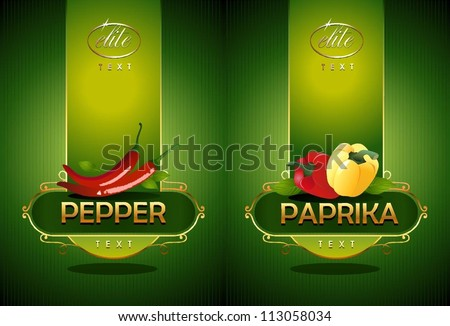 Pepper and paprika. Vector - stock vector