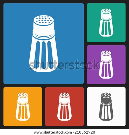 pepper shaker icon - stock vector