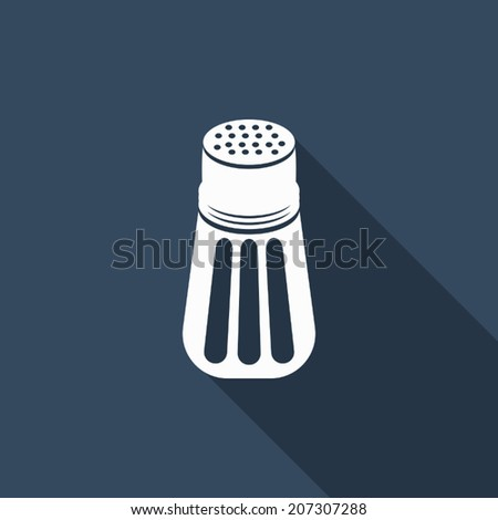 pepper shaker icon with long shadow - stock vector