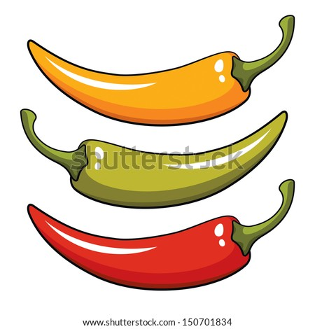 Pepper, vector illustration - stock vector