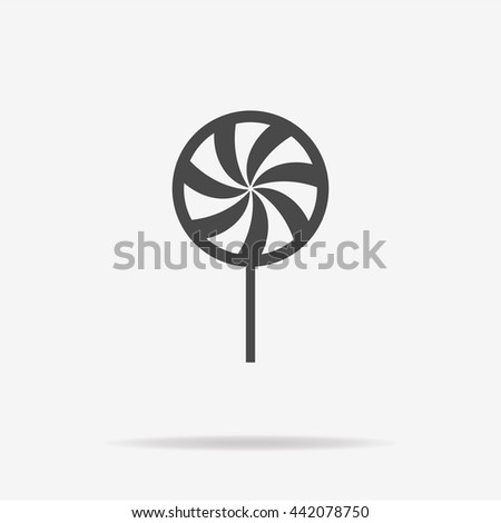 Peppermint candy icon. Vector concept illustration for design. - stock vector