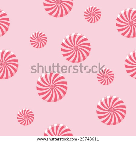 Peppermint Candy Seamless Background - vector illustration - stock vector