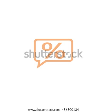 percent icon - stock vector