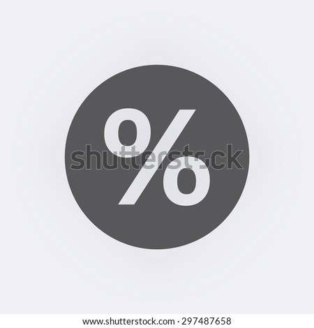 Percent icon in circle