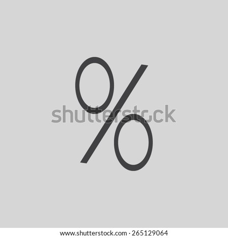 percent sign vector icon - stock vector
