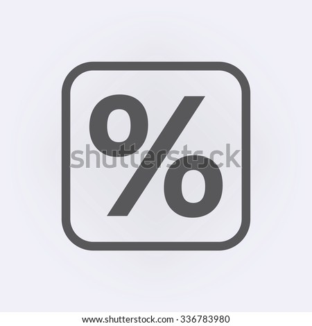 Percent sign . Vector illustration - stock vector