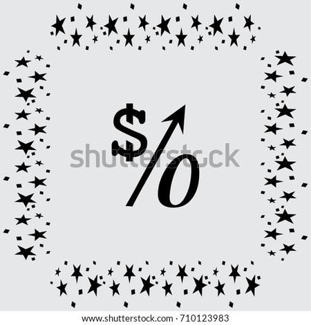 Percent Symbol Vector Illustration Education Finance Stock Vector