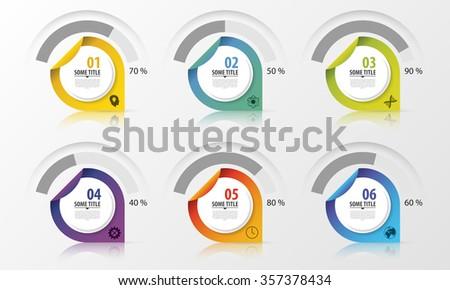 Percentage Diagram Presentation Design Elements. Infographics. Vector illustration. - stock vector