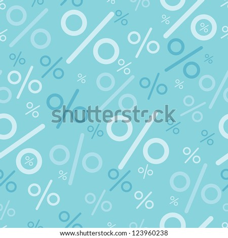 Percentage signs seamless pattern backgrounds - stock vector